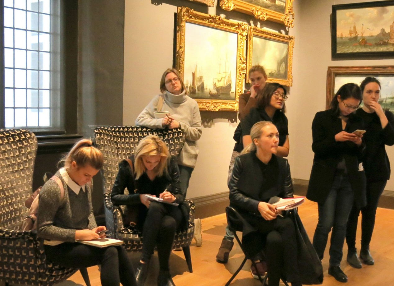 Art Museums, Galleries and Curating students at the Queen's House, Greenwich >