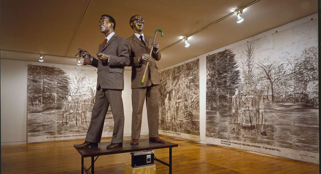 Gilbert & George, The Singing Sculpture, Sonnabend Gallery, New York, 1991 © 2017 Gilbert & George
